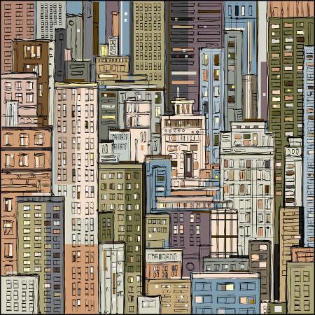 dahabian-cityscape-hand-drawn-vector