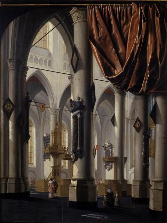 daniel-de-blieck-the-new-church-at-delft-1654