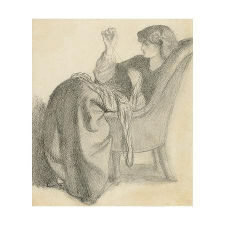 dante-gabriel-charles-rossetti-lachesis-study-of-jane-morris-seated-in-a-chair-sewing-1860s
