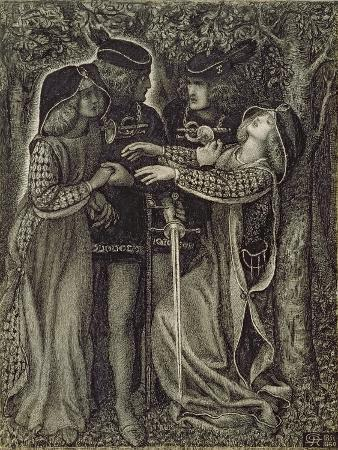 dante-gabriel-rossetti-how-they-met-themselves-c-1850-60