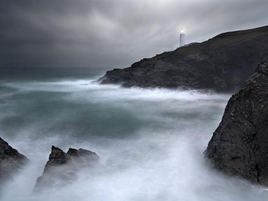 david-clapp-trevose-lighthouse-in-a-storm-cornwall-uk