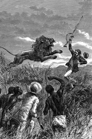 david-livingstone-scottish-missionary-and-african-explorer-being-charged-by-a-lion-c1860