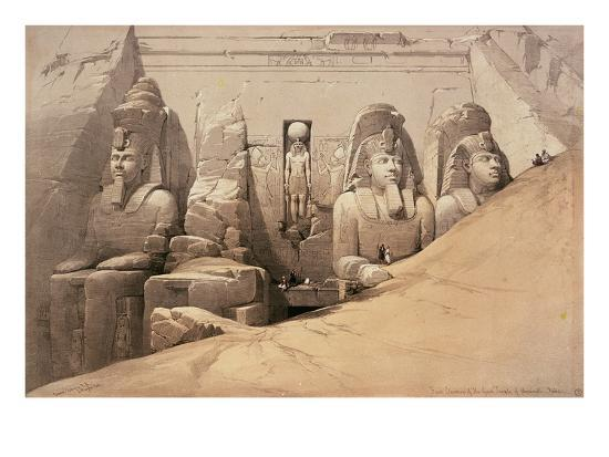 david-roberts-front-elevation-of-the-great-temple-of-aboo-simbel-nubia-from-egypt-and-nubia