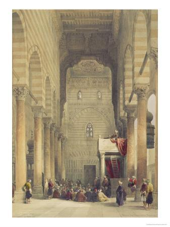 david-roberts-interior-of-the-mosque-of-the-metwalys-cairo-from-egypt-and-nubia-vol-3