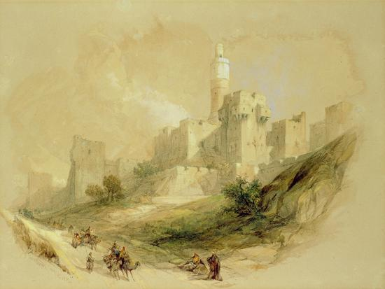 david-roberts-jerusalem-and-the-tower-of-david