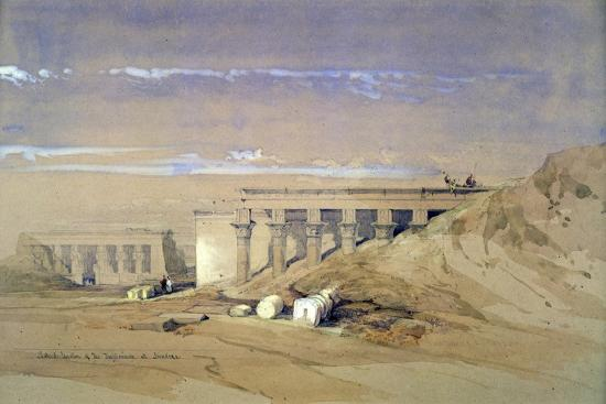 david-roberts-lateral-view-of-the-temple-called-typhonaeum-at-dendera-egypt-19th-century