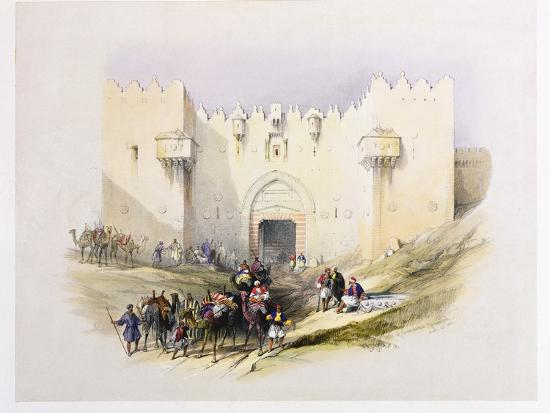 david-roberts-t1212-gate-of-damascus-jerusalem-april-14th-1839-plate-3-from-volume-i-of-the-holy-land