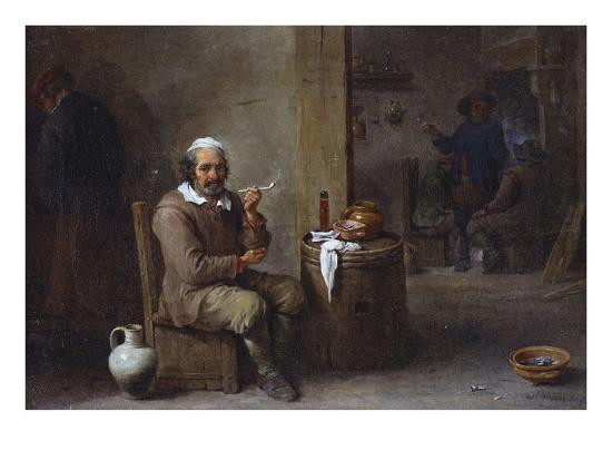 david-teniers-the-younger-a-peasant-smoking-in-an-inn
