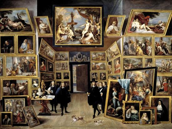 david-teniers-the-younger-archduke-leopoldo-guillermo-at-his-picture-gallery-in-brussels-1647-1651-flemish-school