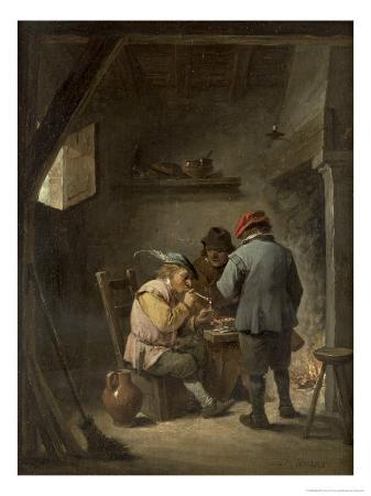 david-teniers-the-younger-peasants-by-an-inn-fire