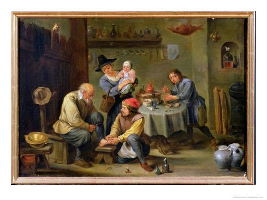 david-teniers-the-younger-surgeon-tending-the-foot-of-an-old-man