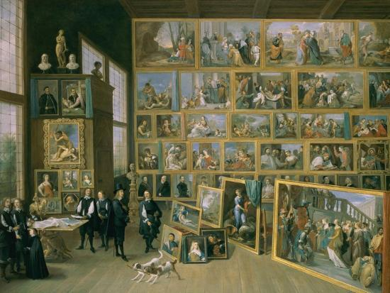 david-teniers-the-younger-the-archduke-leopold-wilhelm-1614-62-in-his-picture-gallery-in-brussels-1651