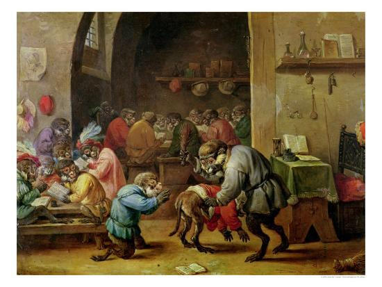 david-teniers-the-younger-the-monkeys-at-school