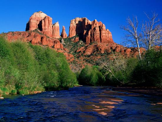 david-tomlinson-cathedral-rock-above-oak-creek-at-red-river-crossing-sedona-arizona