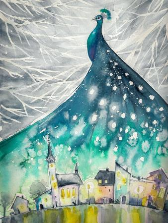 deepgreen-watercolors-abstract-illustration-of-peacock-as-night-sky-over-city