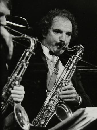 denis-williams-saxophonist-frank-tiberi-performing-at-the-forum-theatre-hatfield-hertfordshire-1983