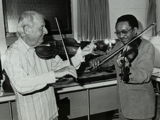 denis-williams-stephane-grappelli-and-claude-fiddler-williams-at-the-forum-theatre-hertfordshire-1980