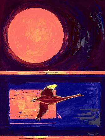 derek-crow-sunset-and-swan-2003