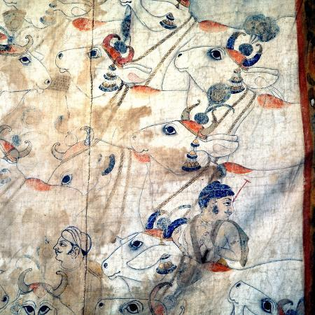 detail-of-a-temple-cloth-in-which-krishna-plays-his-flute-among-the-cows-and-herdsmen-with-whom