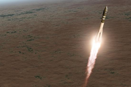detlev-van-ravenswaay-launch-of-vostok-1-spacecraft-artwork