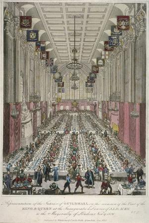 dinner-in-the-guildhall-city-of-london-1830