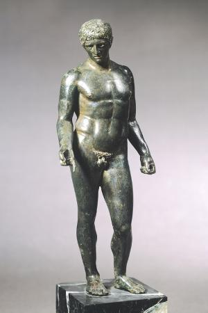 discus-bearer-bronze-statue