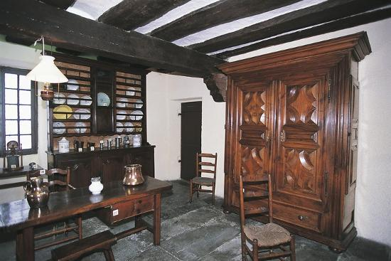 dish-rack-and-large-wardrobe-in-walnut-chateau-fort-de-lourdes-midi-pyrenees-france