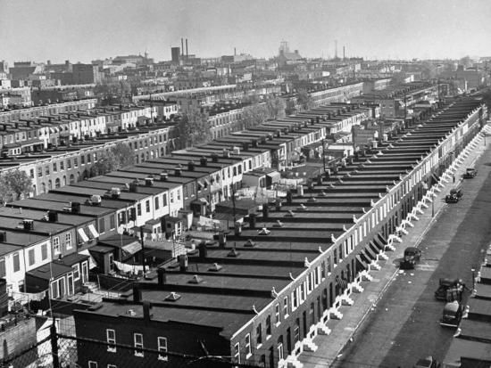 dmitri-kessel-aerial-view-of-town-houses-in-baltimore