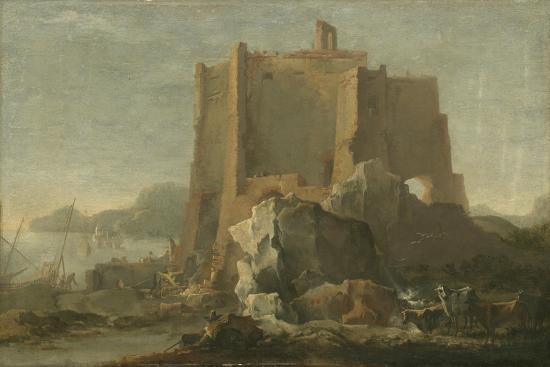 domenico-gargiulo-landscape-with-rock-and-fortress-c-1640-50