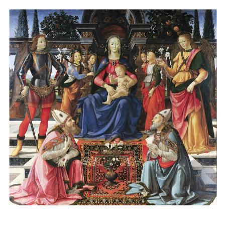 domenico-ghirlandaio-madonna-enthroned-with-saints