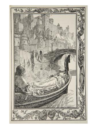 dora-curtis-the-barge-floated-down-the-river-illustration-from-stories-of-king-arthur-and-the-round-table