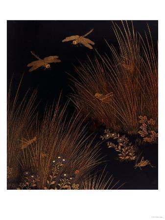 dragonflies-crickets-and-a-ladybird-among-grasses-and-flowers-19th-century