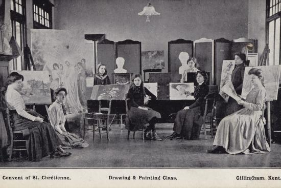 drawing-and-painting-class-convent-of-st-chretienne-gillingham-kent