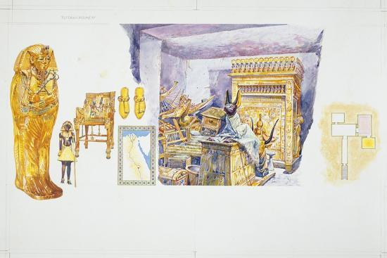 drawing-depicting-tutankhamon-s-sarcophagus