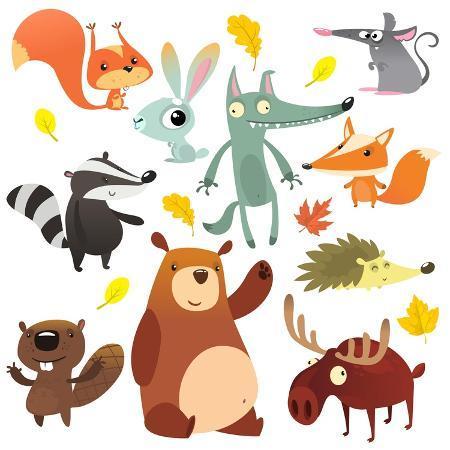 drawkman-cartoon-forest-animal-characters-wild-cartoon-cute-animals-collections-vector-big-set-of-cartoon