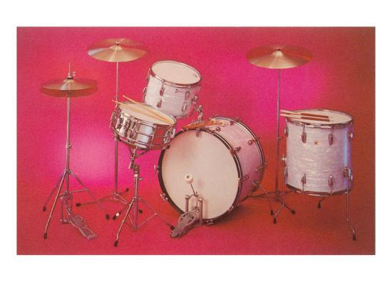 drum-set-with-pink-background