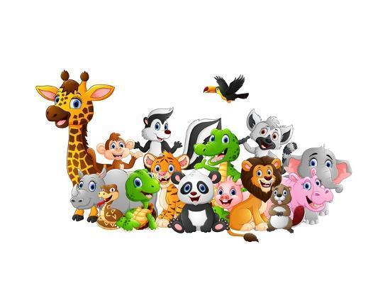 dualororua-cartoon-wild-animals-background