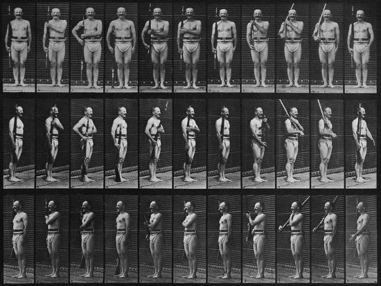 eadweard-muybridge-album-sur-la-decomposition-du-mouvement-animal-locomotion-homme-au-fusil