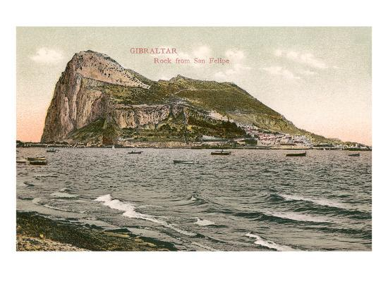 early-view-of-rock-of-gibraltar