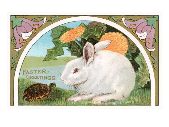 easter-greetings-rabbit-and-turtle