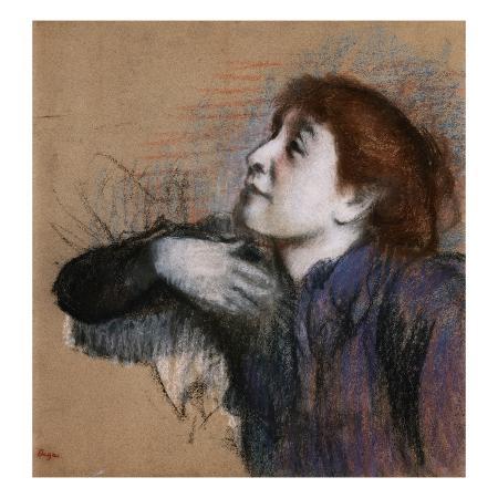 edgar-degas-bust-of-woman