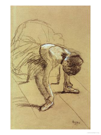 edgar-degas-seated-dancer-adjusting-her-shoes-circa-1890