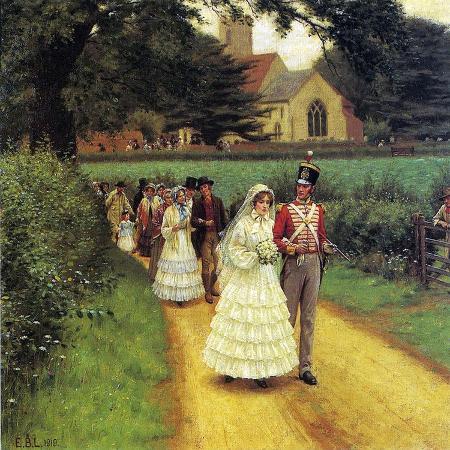 edmund-blair-leighton-the-wedding-march-1919