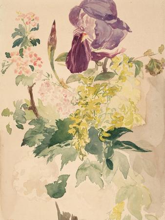 edouard-manet-flower-piece-with-iris-laburnum-and-geranium-1880