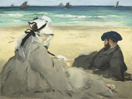 edouard-manet-on-the-beach-1873