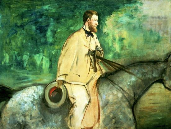 edouard-manet-portrait-of-gillaudin-on-a-horse