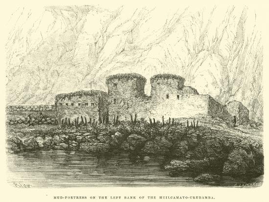 edouard-riou-mud-fortress-on-the-left-bank-of-the-huilcamayo-urubamba