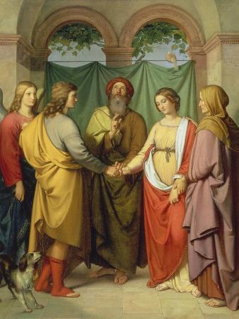 eduard-ihlee-the-marriage-of-tobias-with-sarah-1842