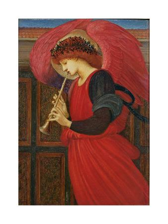 edward-burne-jones-an-angel-playing-a-flageolet