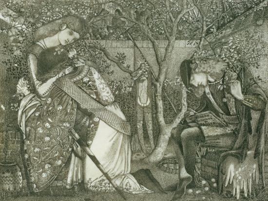 edward-burne-jones-the-knight-s-farewell-1858